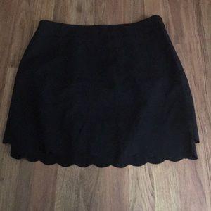 Loft Scallop Skirt Black 12